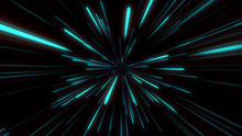 Abstract Tunnel Speed Light St...