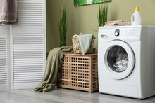 Interior Of Home Laundry Room ...