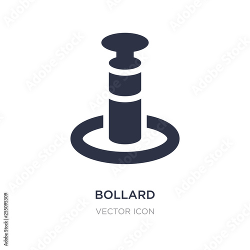 Photo bollard icon on white background
