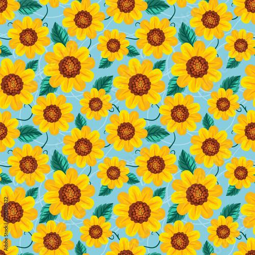 Seamless pattern sunflower