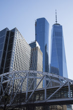 The World Trade Centre In Manhattan New York With The Freedom Tower.