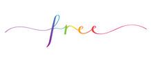 FREE Rainbow Brush Calligraphy...