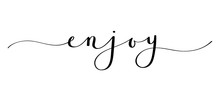ENJOY Brush Calligraphy Banner