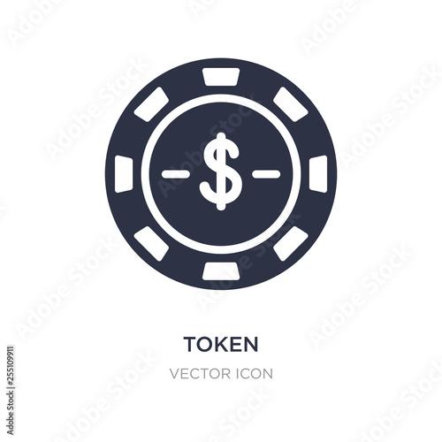 Fotografía  token icon on white background