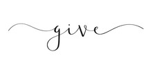 GIVE Brush Calligraphy Banner