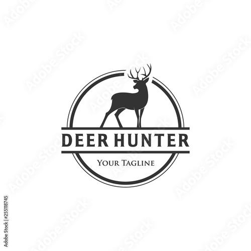 wildlife deer logo designs , hunting club logo