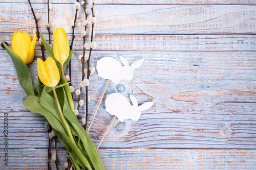 Fototapeta Pastelowe tło wielkanocne. Święta Wielkanocne. Kolorowe tło. obraz