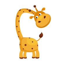 Giraffe. Funny Alphabet, Anima...