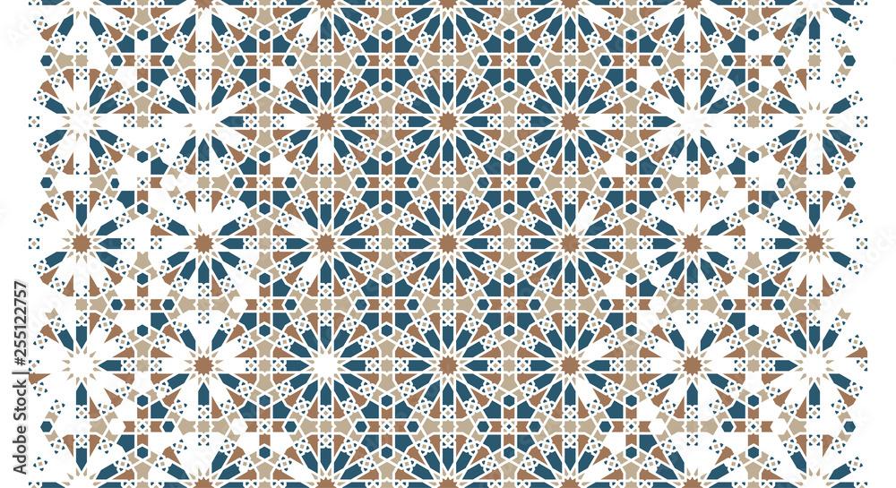 Photo Arabesque vector seamless pattern