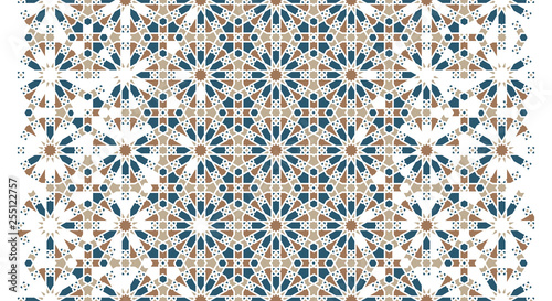 Εκτύπωση καμβά Arabesque vector seamless pattern