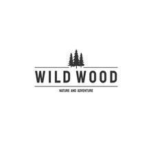 Vintage Vector Professional Sign Logo Wild Woods