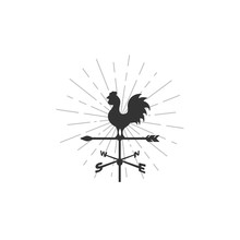 Weather Vane And Sunburst Background Illustrations