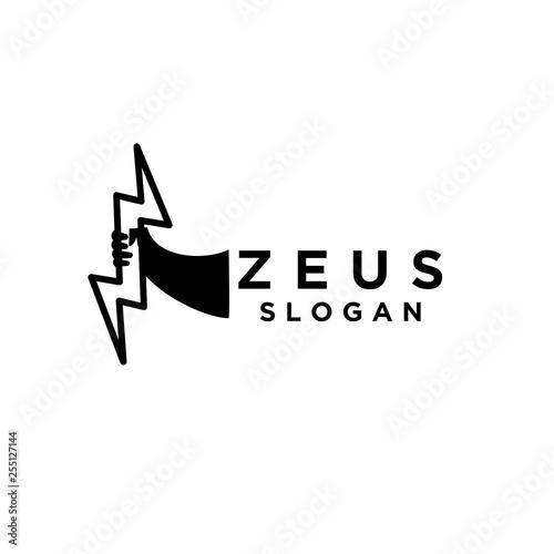 hand of zeus logo icon designs vector illustration template Wallpaper Mural