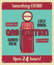 Gas Station Service Vintage Po...