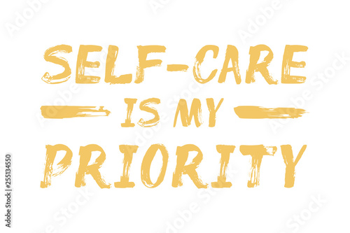 Self-Care is My Priority - affirmation quote Canvas Print