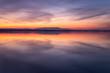 Lesina lake at sunset, Lesina village, Foggia district, Apulia, Italy