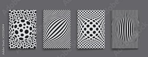 Naklejka premium Streszczenie tło z kręgów. Chaotyczne cząsteczki w pustej przestrzeni. Dynamiczne ilustracje wektorowe.