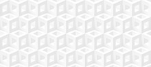 Realistic 3d Vector Cubes Light Texture, Geometric Seamless Pattern, Design White Background For You Projects