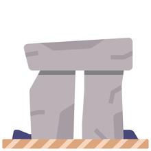 Stonehenge Flat Illustration