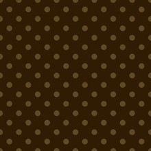 Light Brown Polka Dots On Dark Brown Background. Pattern, Wallpaper, Background, Web, Decoration, Wrapping Paper.