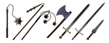 Medieval Hand Weapons, Ax, Swo...
