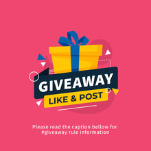 Giveaway Poster Template Desig...
