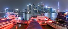 Night View Of Shanghai North Bund Fair Road Ferry Station