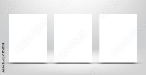 Three poster mockup Fototapet