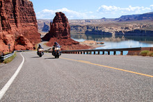 Motorcycle Riding At Lake Powell