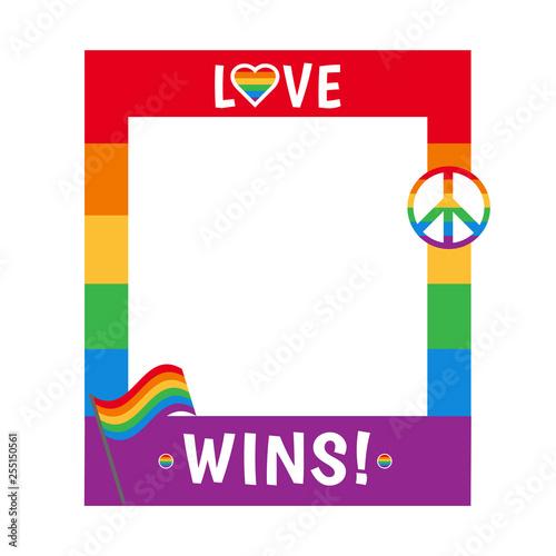 Fotografía  Vector pride frame LGBT symbols Love rainbow