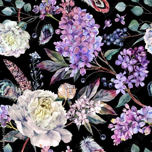 akwarela-kwiatowy-wzor-boho