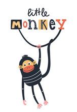 Little Monkey - Cute Kids Hand...