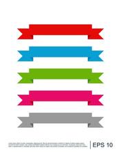 Ribbon Flat Vector Design For Print And Website