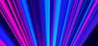 Leinwandbild Motiv Futuristic lights. Cyberpunk background. Abstract lasers. Pink and Blue.