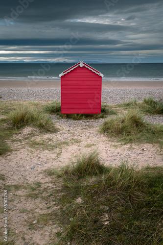 Valokuvatapetti Red hut on the beach
