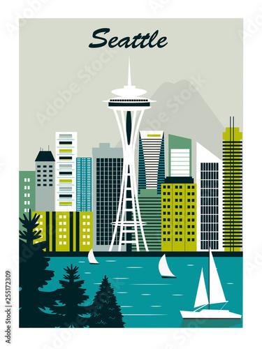Fotografía  Seattle city.