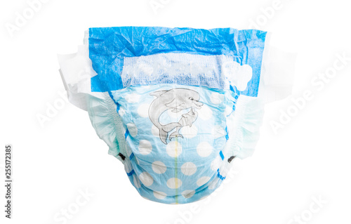 Tableau sur Toile baby diapers isolated