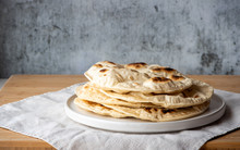 Traditional Flat Bread, Naan B...