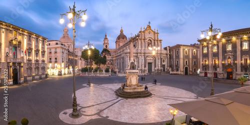 Stampa su Tela Catania Cathedral at night, Sicily, Italy