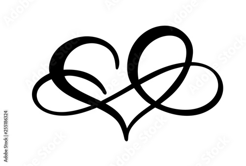 Fotografía  Love heart with sign of infinity
