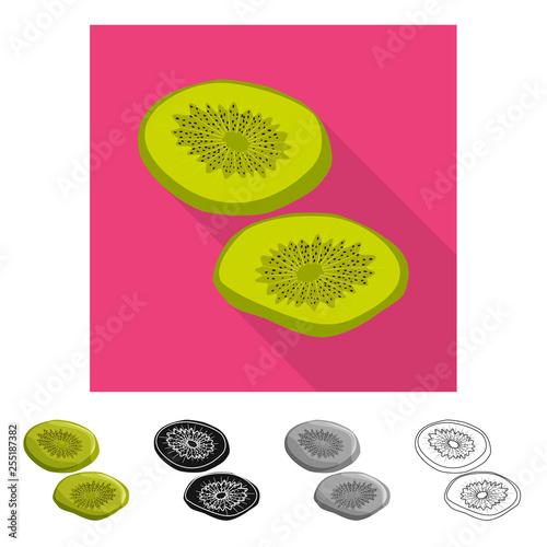 Fotografie, Obraz  Isolated object of kiwi  and dry logo