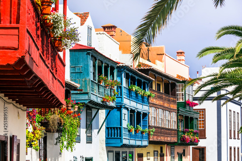 Traditional colonial architecture of Canary islands Canvas