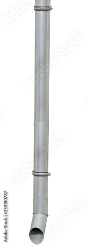 Rain Water Draining Gutter Downpipe on white Canvas-taulu