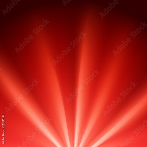 Fotografía Red colored rays with color spectrum flare