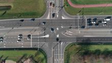 Highway Intersection With Cars...