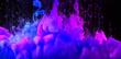 Leinwandbild Motiv Acrylic colors in water. Ink blots. Abstract background.
