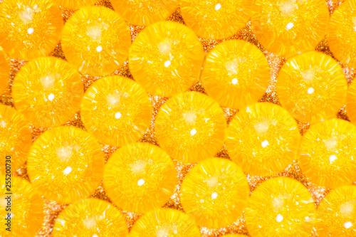 orange hydrogel balls