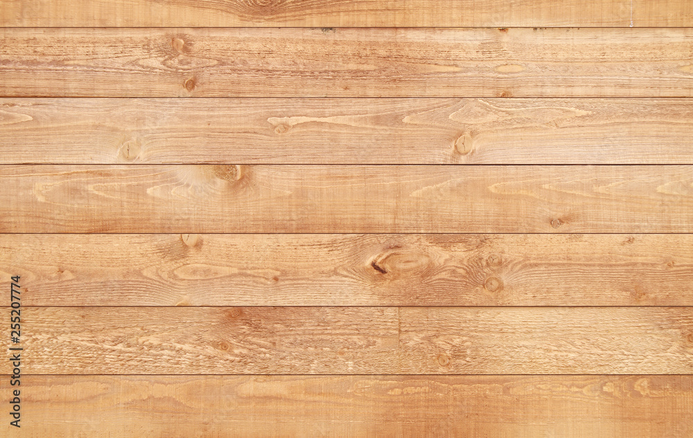 Fototapety, obrazy: Wood brown texture background. Natural wooden planks.