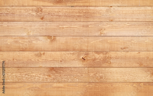 Poster de jardin Bois Wood brown texture background. Natural wooden planks.