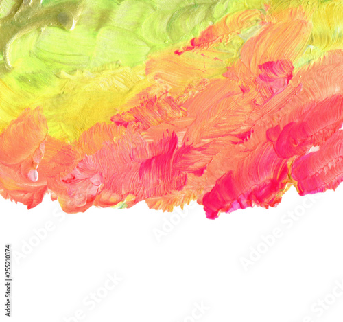 Abstract color acrylic brush strokes paint.